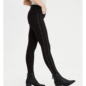 AE Side Lace Up Jegging